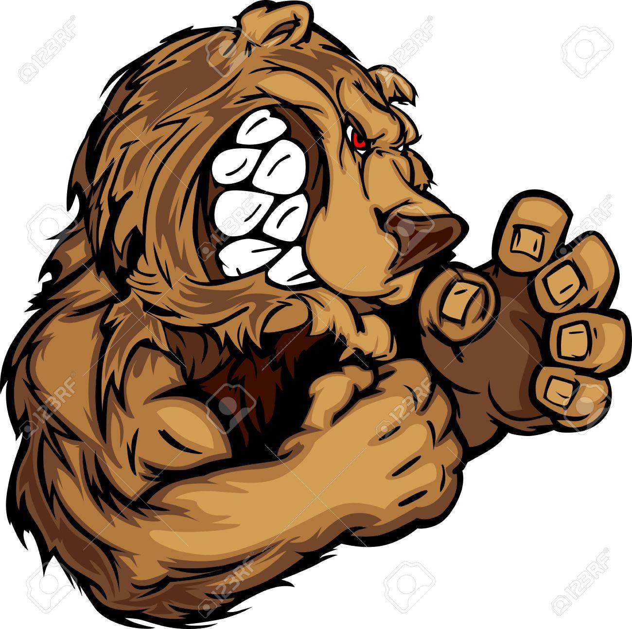 bear fighting mascot body illustration royalty free cliparts, vectors, and  stock illustration. image 11696897.  123rf