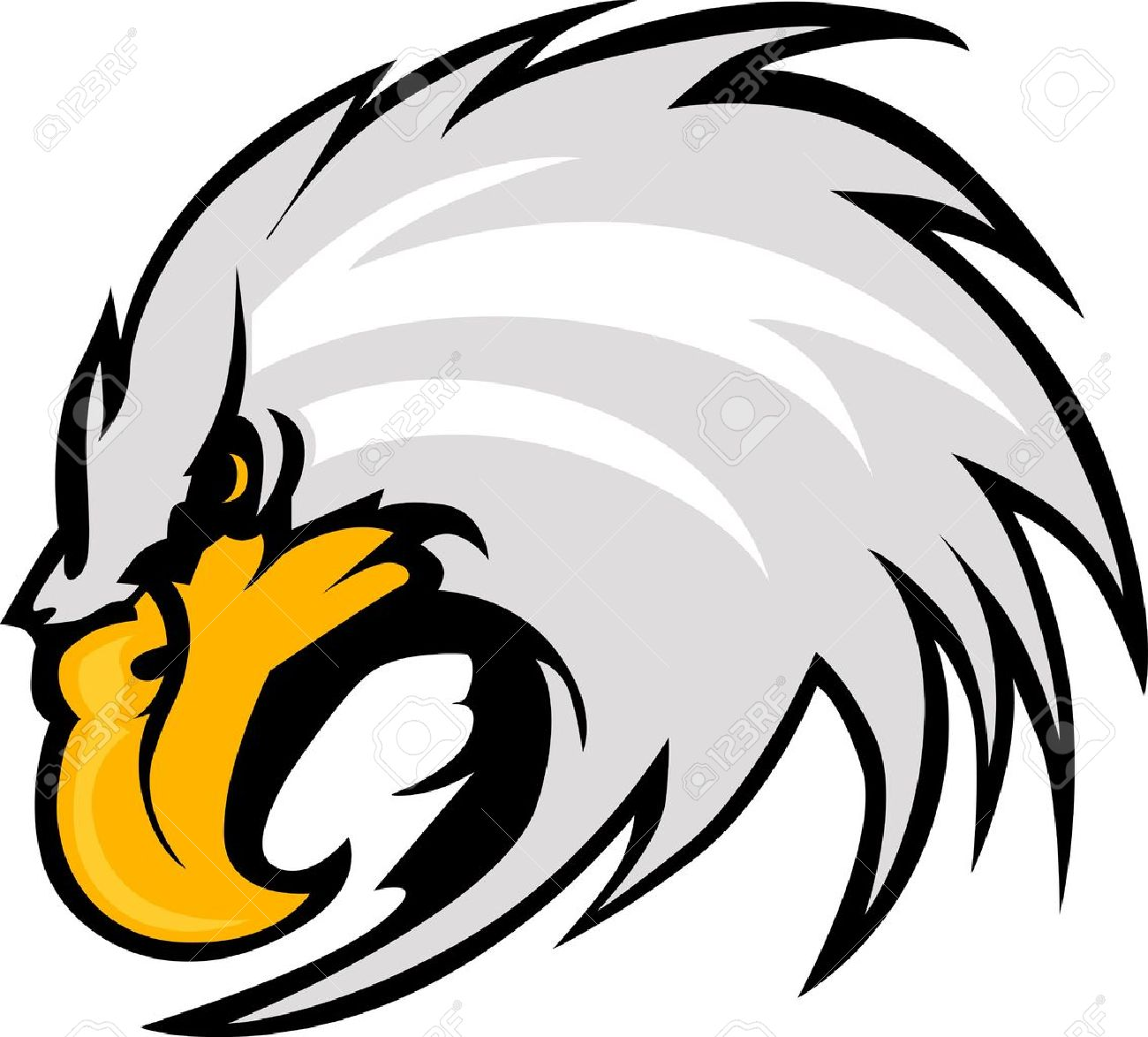 6 835 eagle head cliparts stock vector and royalty free eagle head rh 123rf com eagle head clipart black and white Eagle Clip Art Black and White