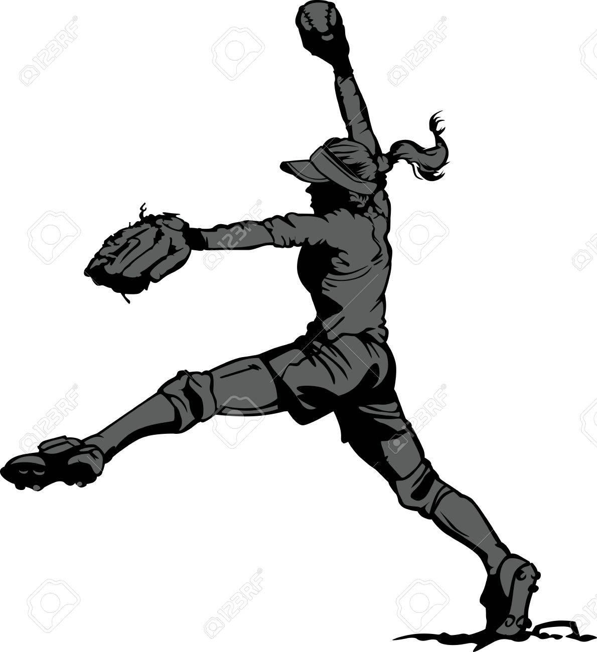 Images Softball Players Softball Player Pitching