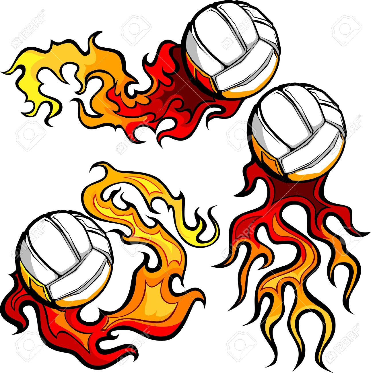 graphic volleyball sport vector image with flames royalty free rh 123rf com