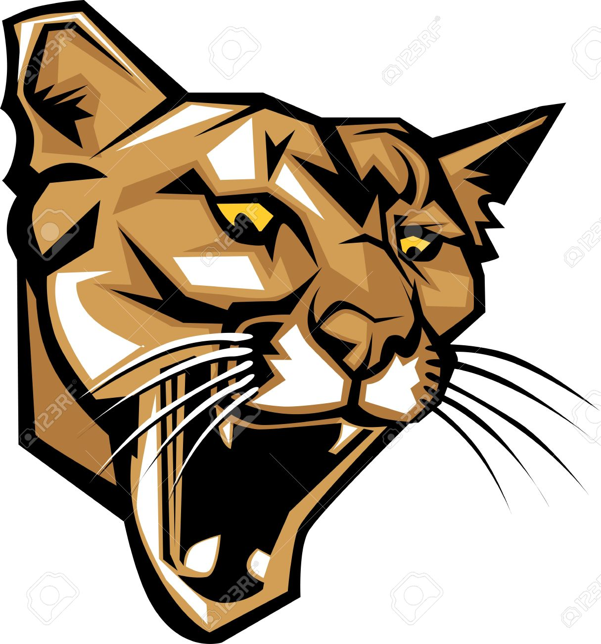 graphic vector mascot image of a mountain lion head royalty free rh 123rf com mountain lion clip art free mountain lion head clipart