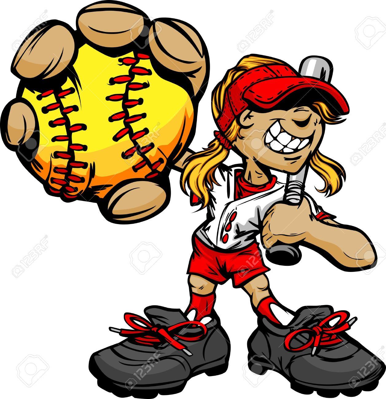 Girl Pitching Clipart Fast Pitch Softball Girl