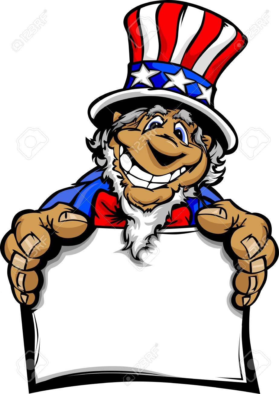 uncle sam on july 4th mascot with happy smiling face wearing rh 123rf com uncle sam clip art images uncle sam clip art free