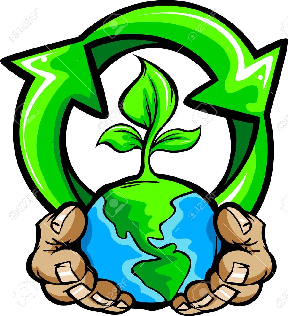 Cartoon image of a hands holding planet earth with a green plant cartoon image of a hands holding planet earth with a green plant and a recycling symbol biocorpaavc Gallery