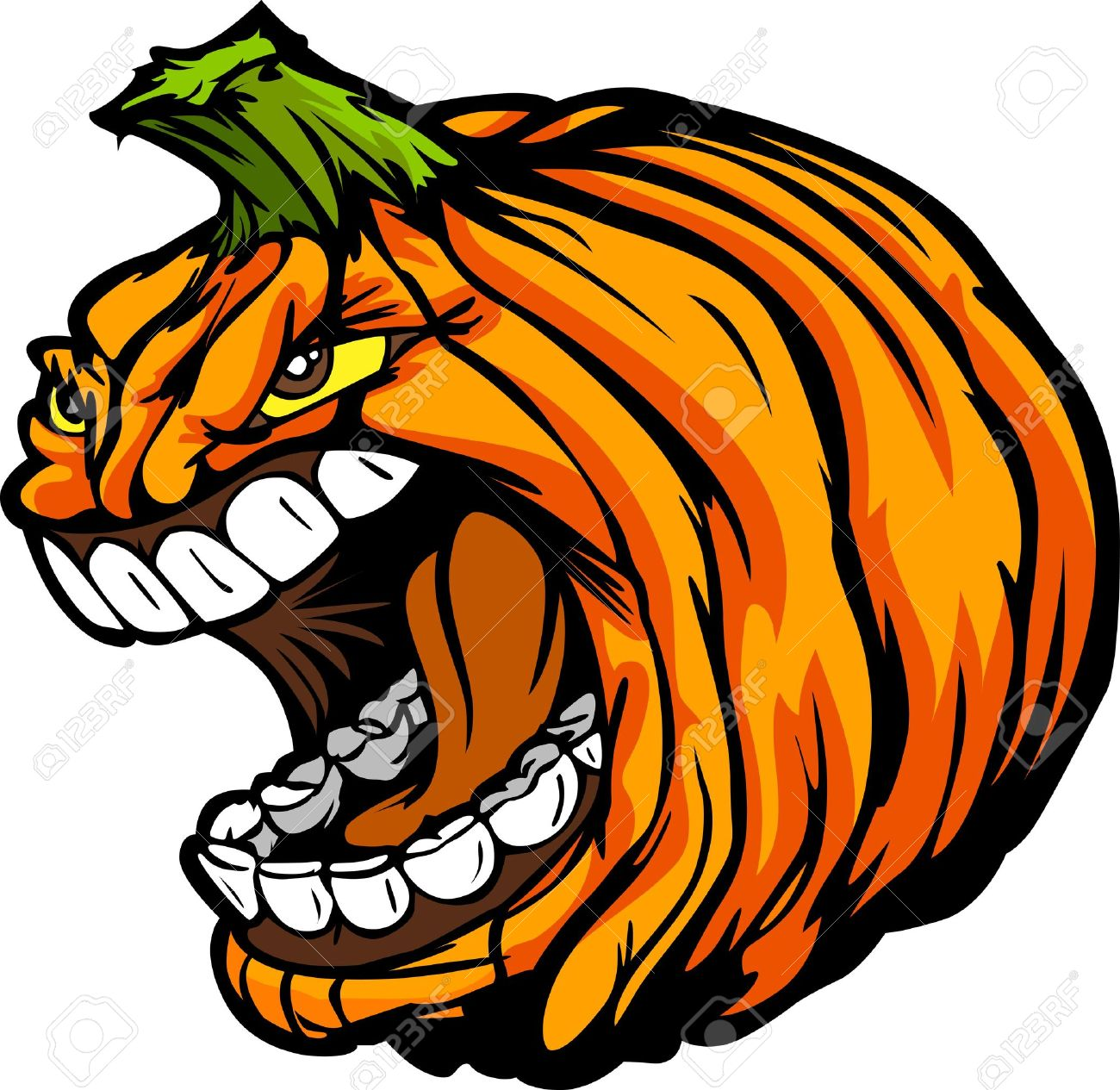 Cartoon image of a scary screaming halloween pumpkin jack o cartoon image of a scary screaming halloween pumpkin jack o lantern head stock vector 15142957 thecheapjerseys Gallery