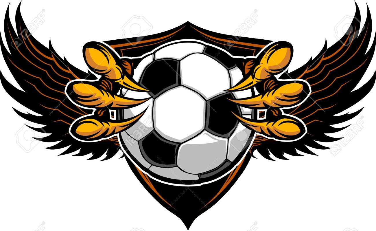 Graphic Vector Image of a  Eagle Claws or Talons Holding Soccer Ball Stock Vector - 15441891