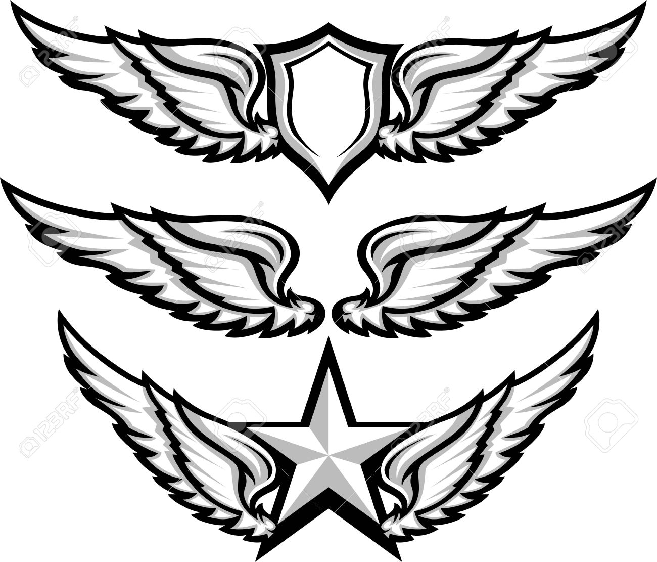 shield and wings emblems illustration royalty free cliparts vectors rh 123rf com vector windows fergus falls vector wings free