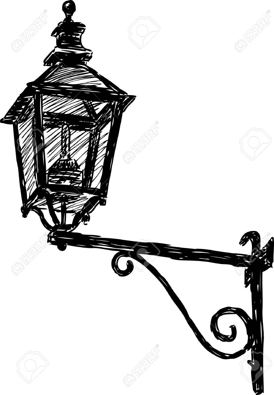 image of a vintage street light royalty free cliparts vectors and