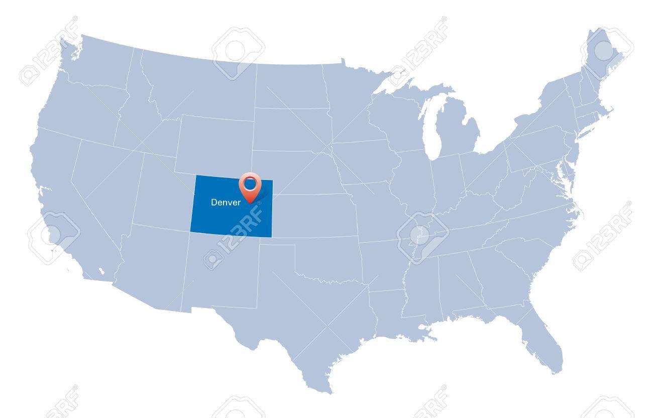 Us Map Denver - Us map denver