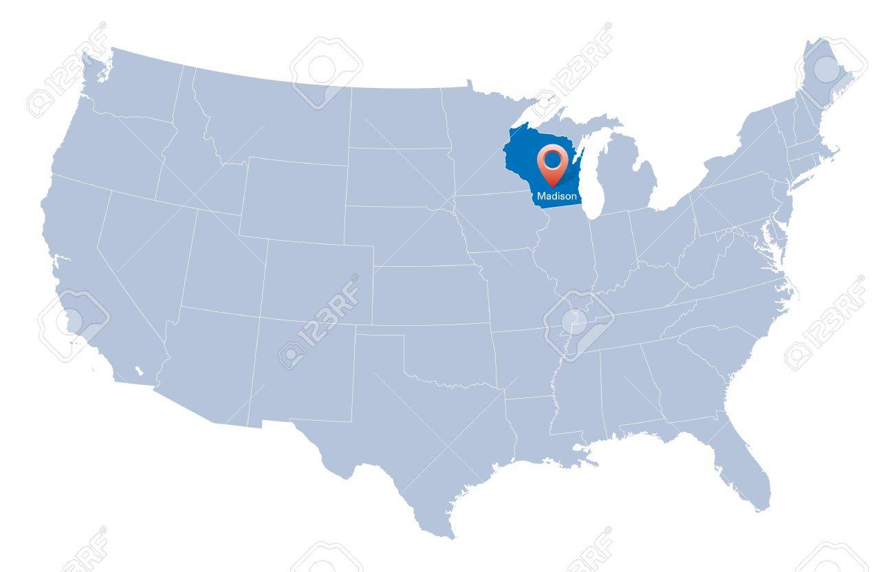 State Of Wisconsin Map Indianapolis Airport Map - Wisconsin map usa