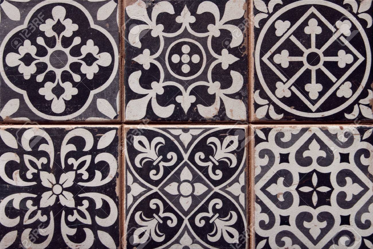 closeup of typical spanish tiles - 29272659
