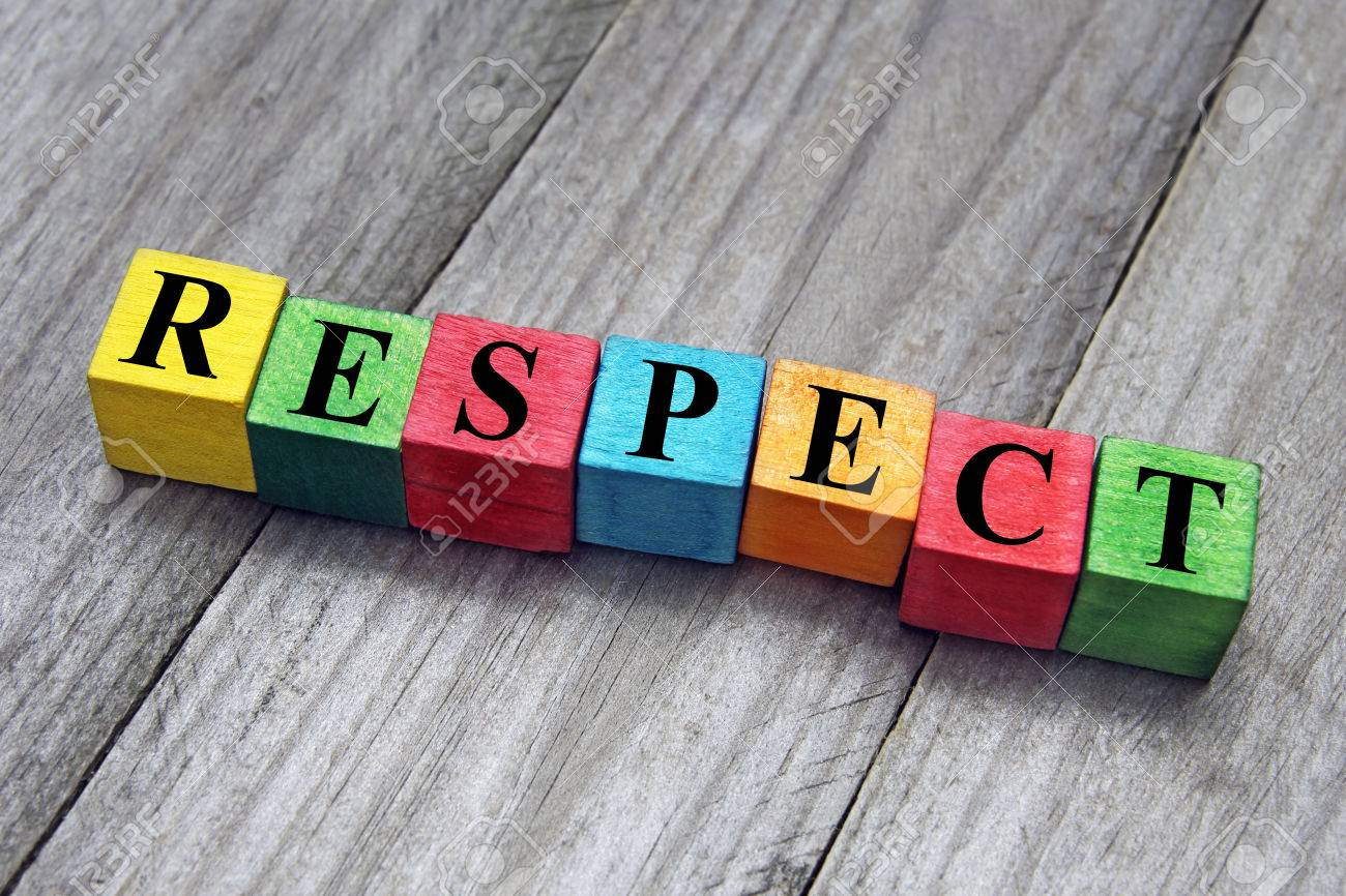 concept of respect word on wooden cubes - 34283870