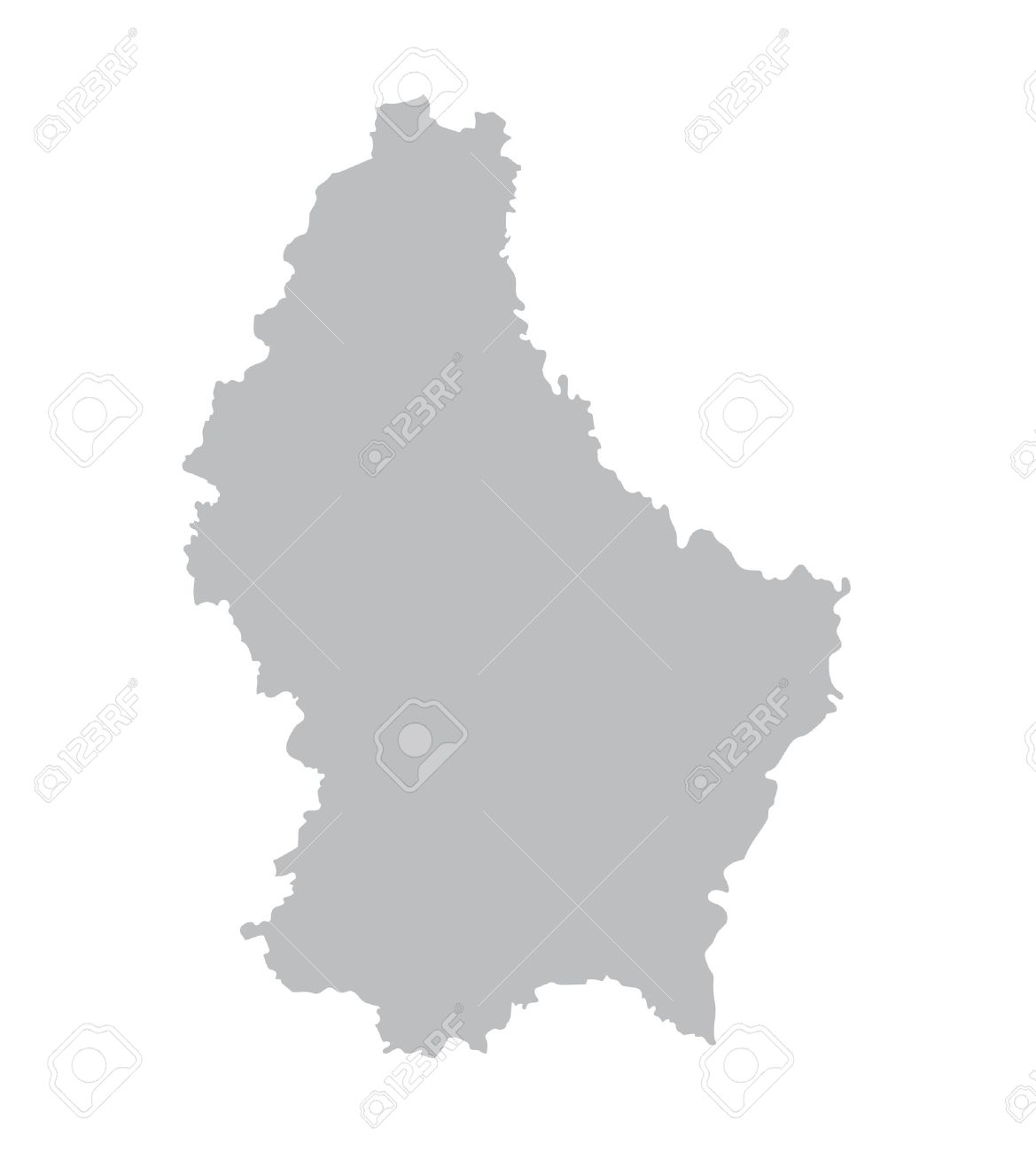 Grey Map Of Luxembourg Royalty Free Cliparts Vectors And Stock - Luxembourg map vector
