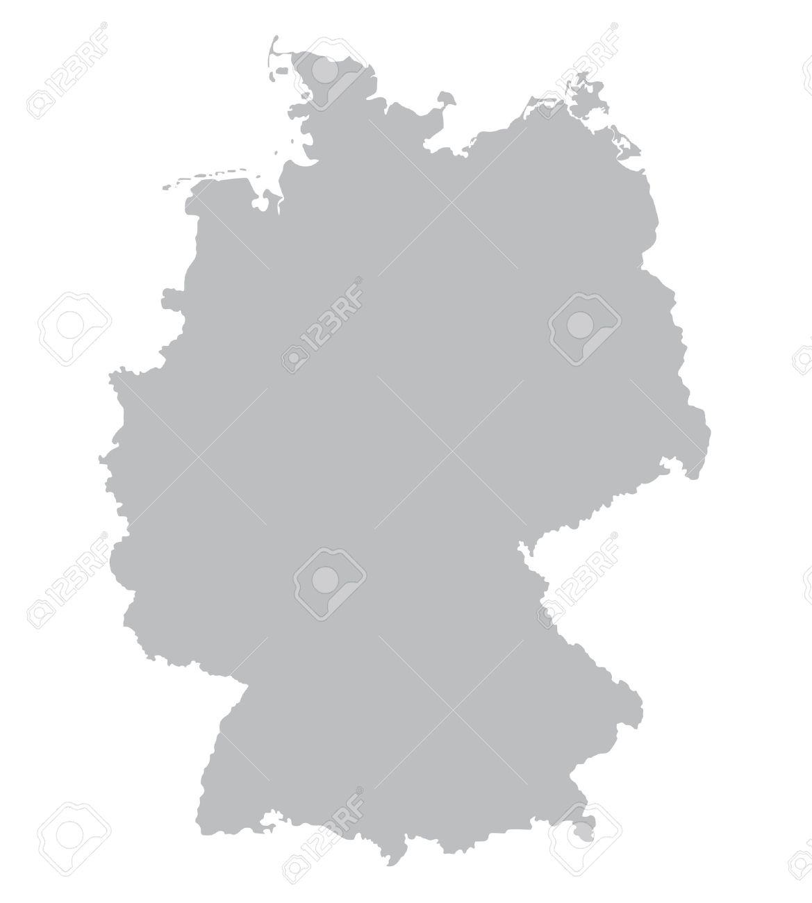 grey map of Germany - 36414832