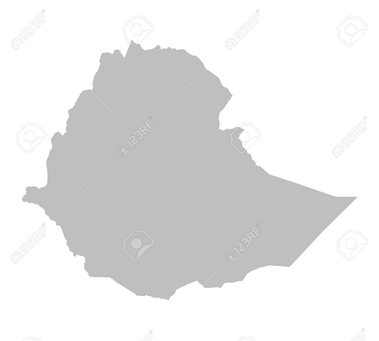 Grey Map Of Ethiopia Royalty Free Cliparts Vectors And Stock - Ethiopia map