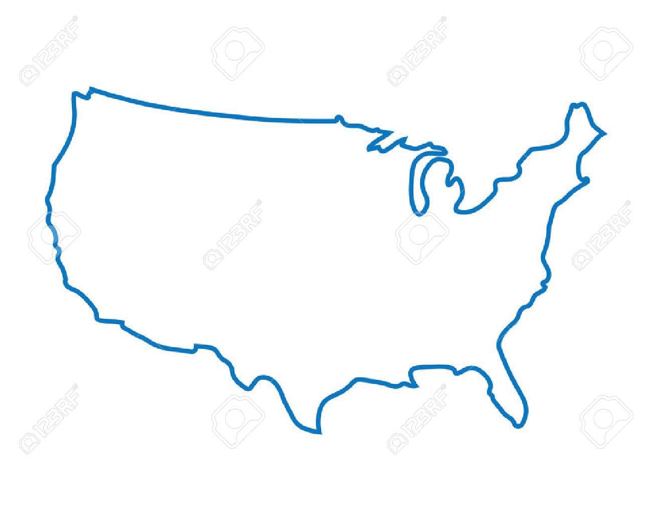 blue abstract map of United States - 37073589