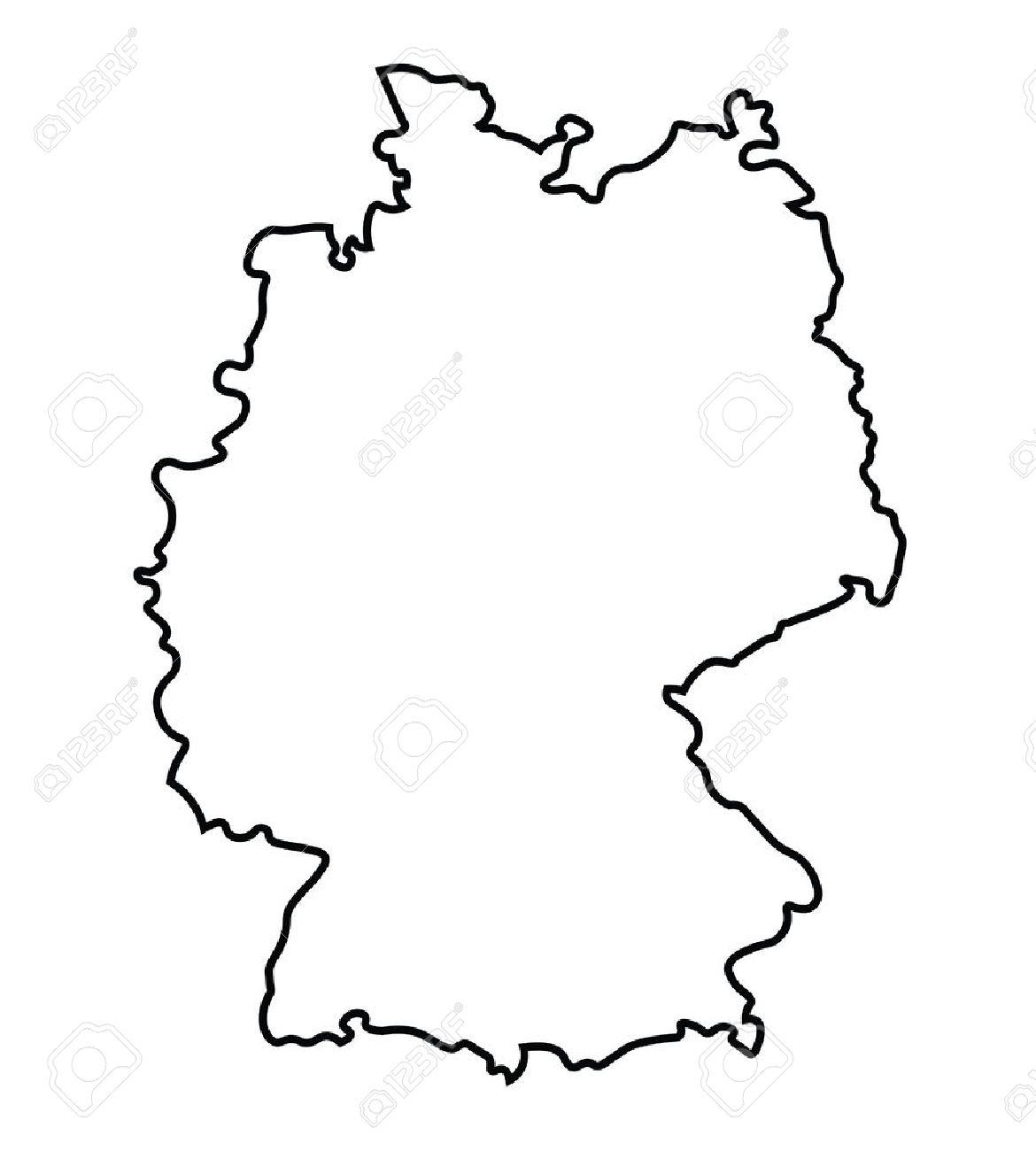 noir carte abstraite de l'Allemagne Banque d'images - 37077056