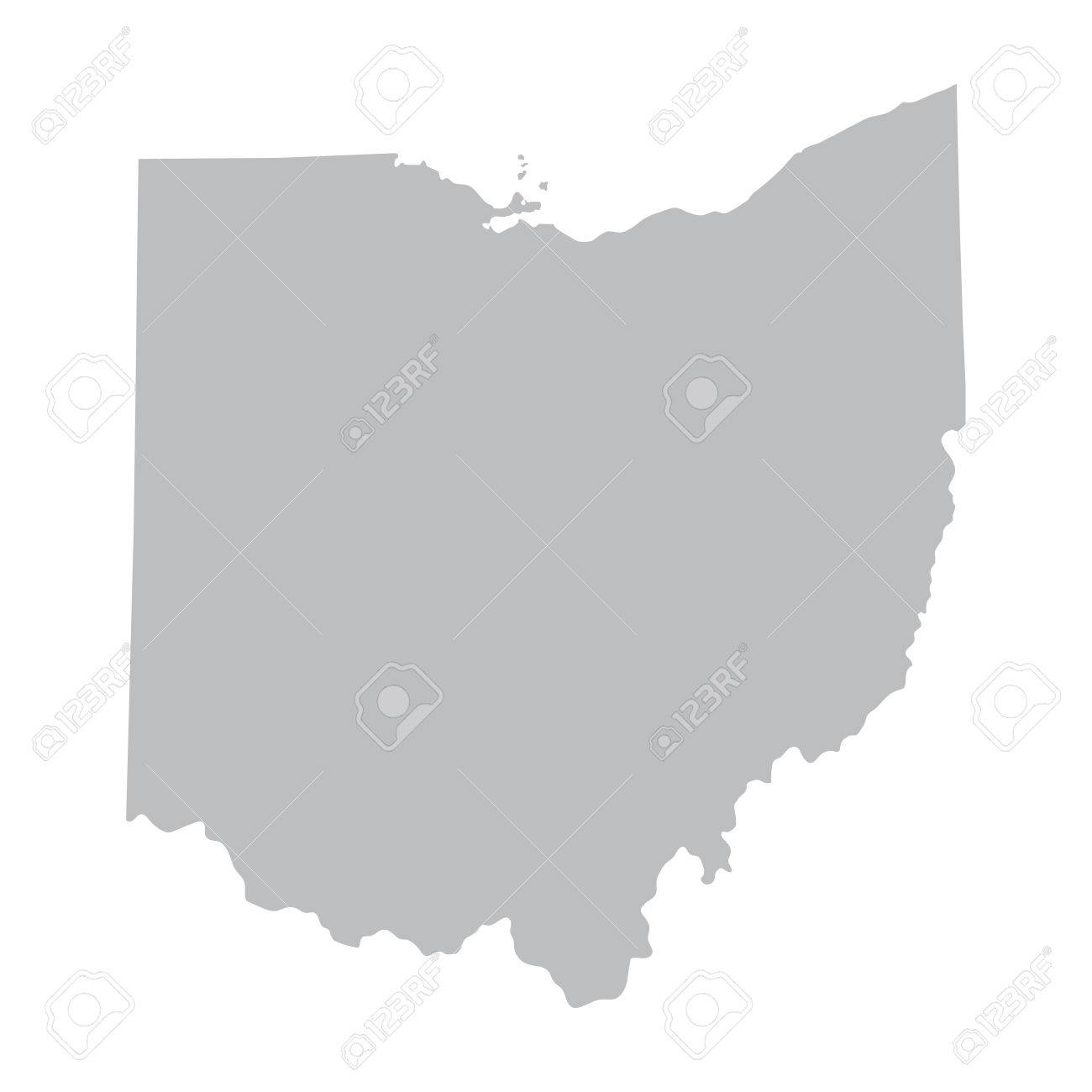 carte grise de l'Ohio Banque d'images - 37229156