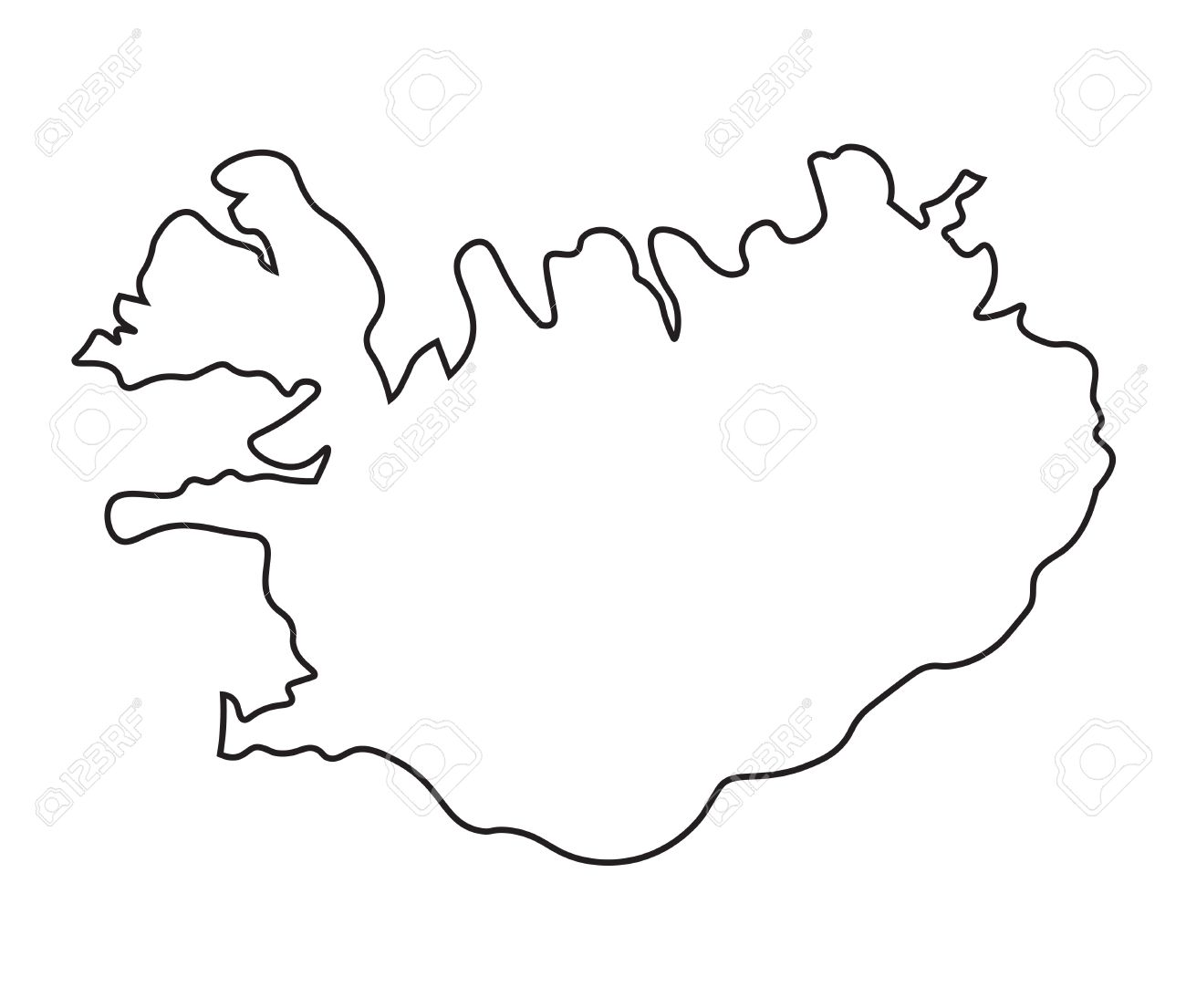 Image of: Black Abstract Map Of Iceland Royalty Free Cliparts Vectors And Stock Illustration Image 37456821