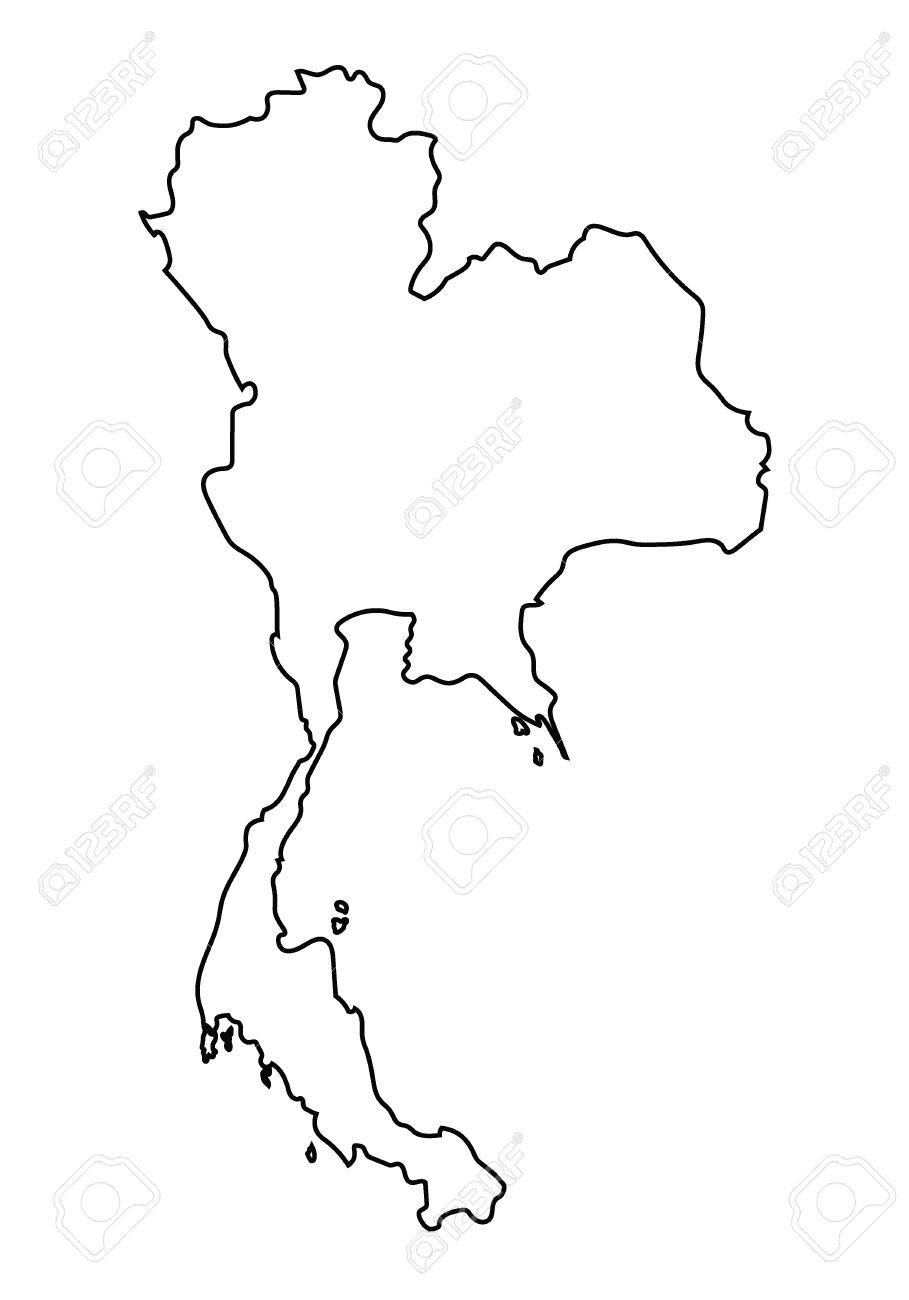 geography blog thailand outline maps