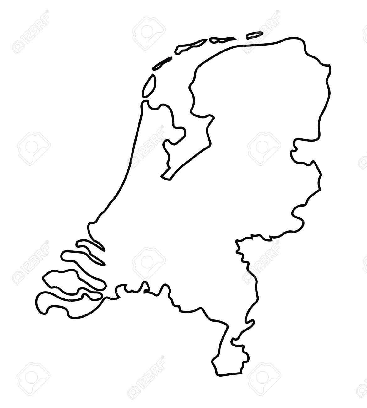 noir carte abstraite de la carte Pays-Bas Banque d'images - 37506609