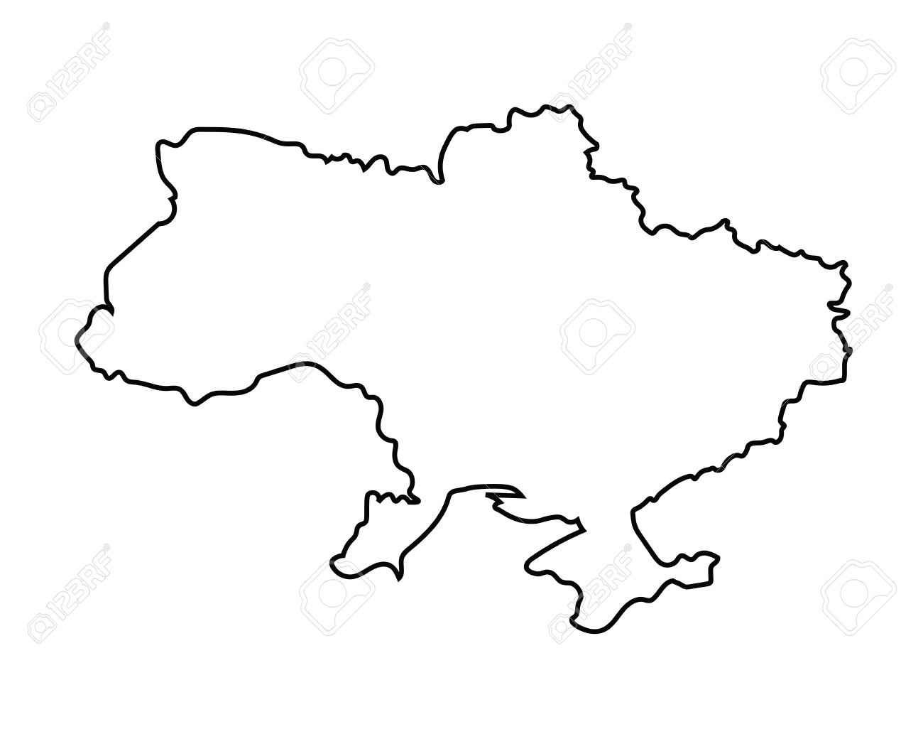 Black Outline Of Ukraine Map Royalty Free Cliparts Vectors And Stock Illustration Image 38348026