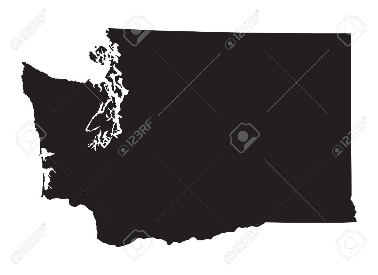 Carte noire de Washington Banque d'images - 39499108