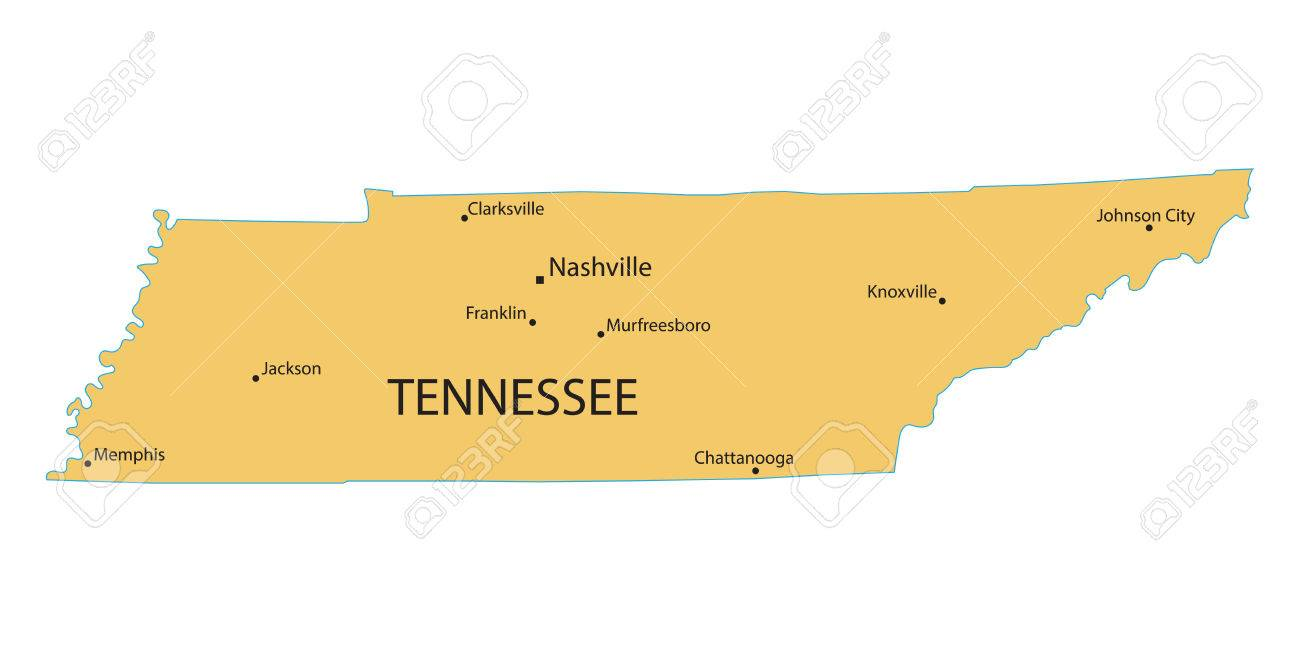 Yellow map of Tennessee with indication of largest cities on map of tennessee hospitals, map of tennessee and north carolina, map of sparta tennessee, map of east tennessee, map of airports in tennessee, map of pigeon forge, map of middle tennessee, map of tennessee lakes, map of alabama, map of tennessee online, map of tennessee counties, arkansas map cities, map of gatlinburg, map of tn, map of tennessee only, distance between cities, map of brentwood tennessee, map of tennessee state, map of texas, map of kentucky,