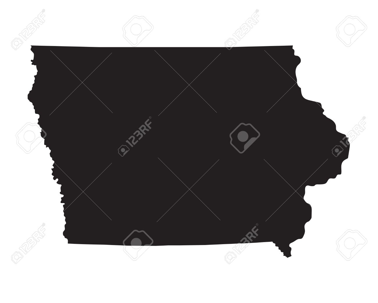 Iowa Map Usa Lsu Map Map Australia - Us vector map