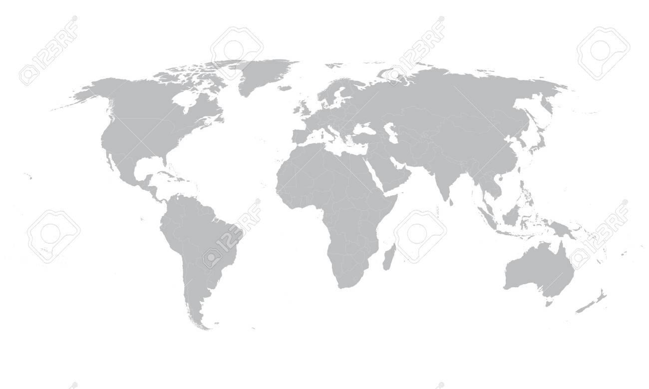 gray world map - 43197982
