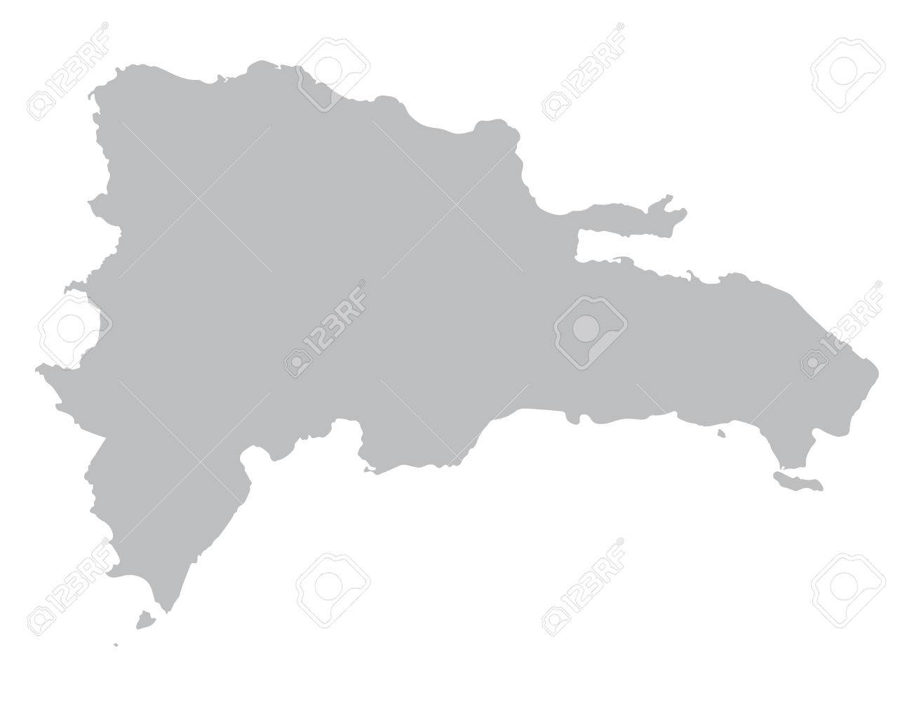 Gray Map Of Dominican Republic Royalty Free Cliparts Vectors And - Dominican republic map vector