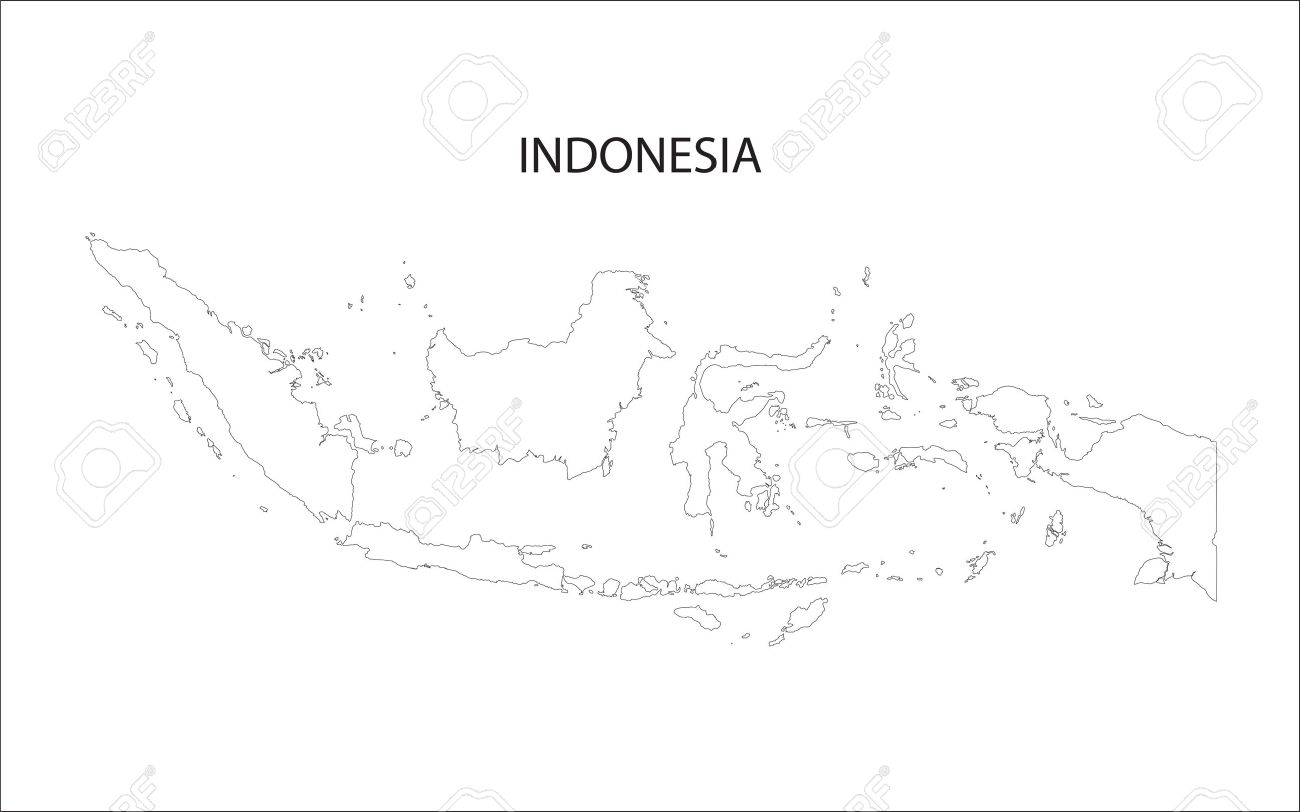 outline of Indonesia maps - 45798237