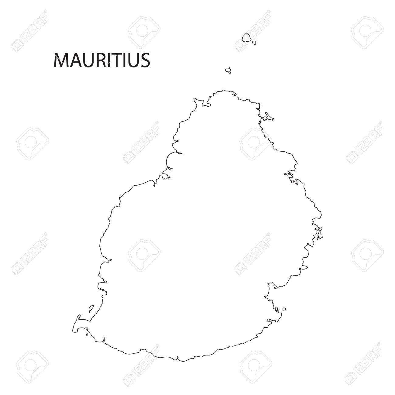 Outline Map Of Mauritius Royalty Free Cliparts, Vectors, And Stock ...