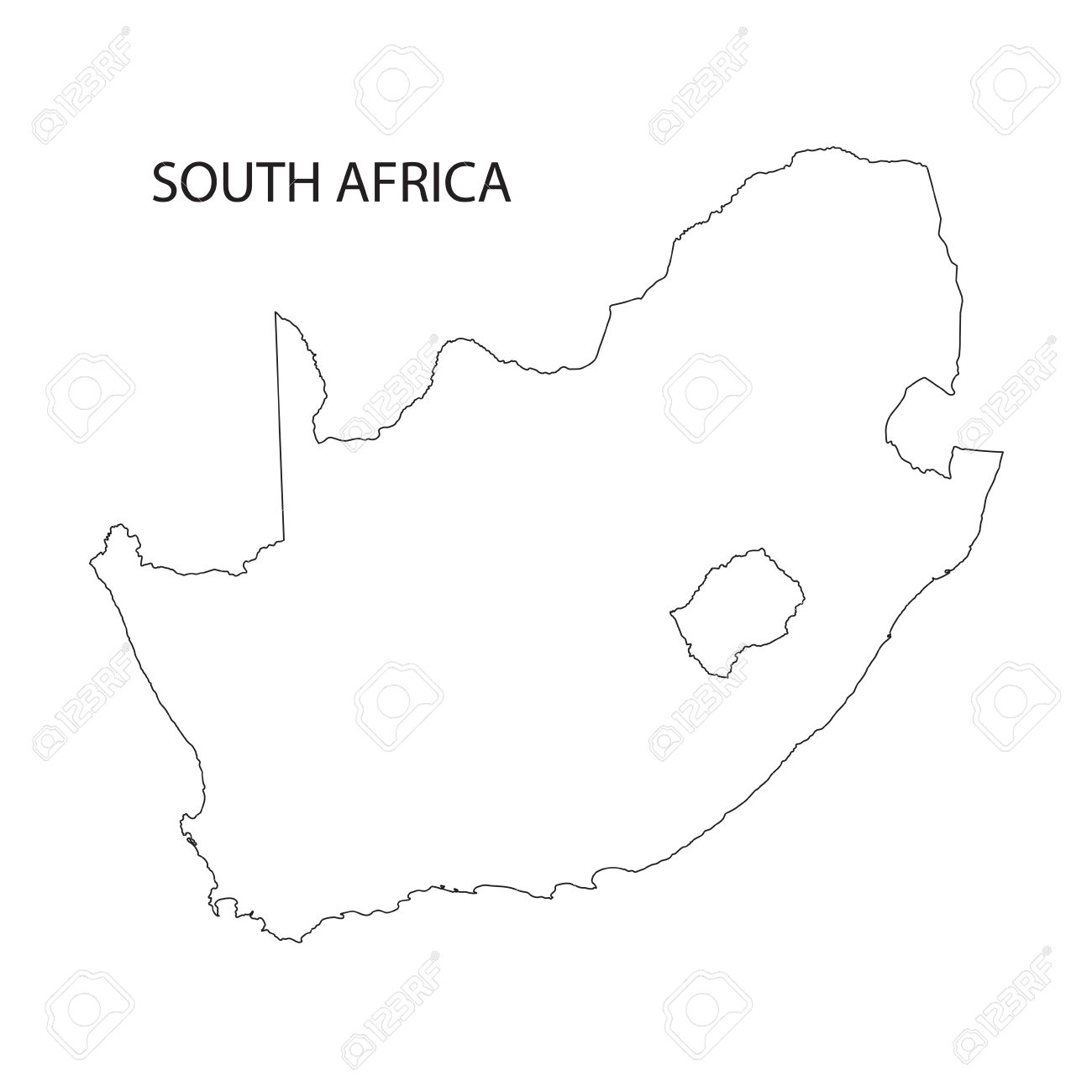 Outline Of Africa Map.Outline Of South Africa Map Royalty Free Cliparts Vectors And