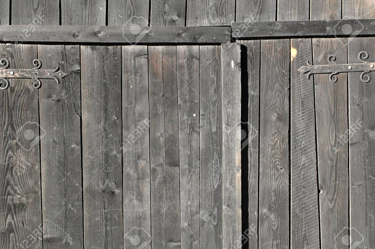 Stock Photo   Wooden Barn Door Background