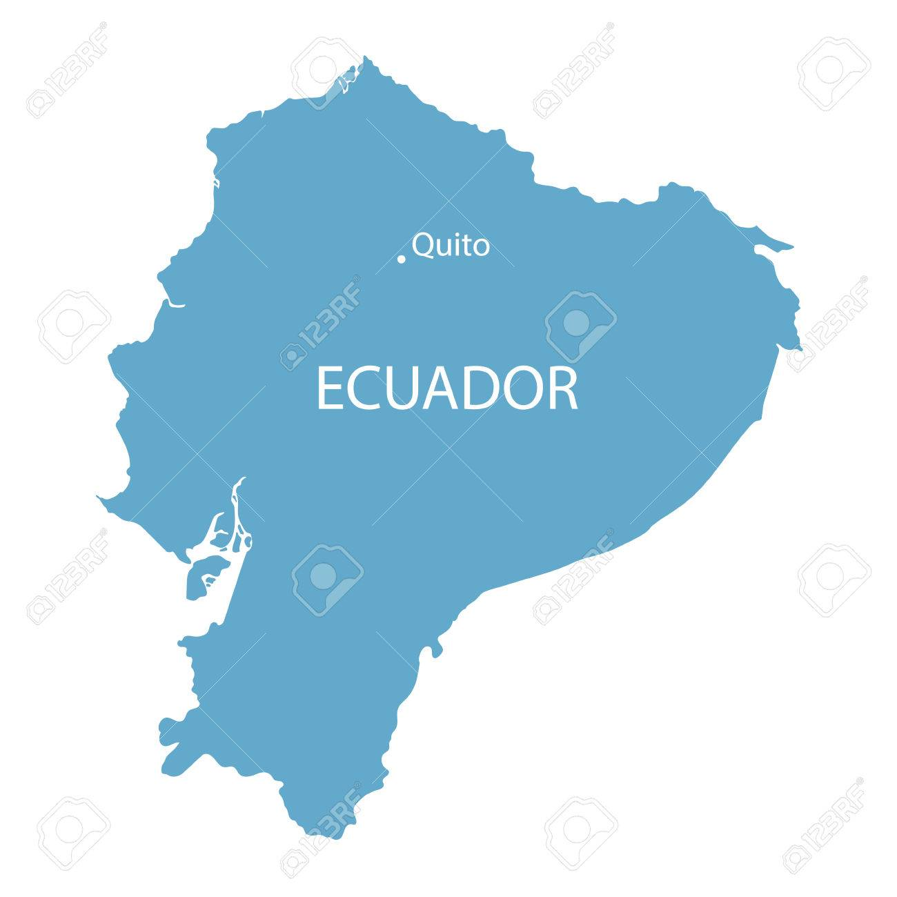 Blue map of ecuador with indication of quito royalty free cliparts blue map of ecuador with indication of quito stock vector 48119394 gumiabroncs Choice Image