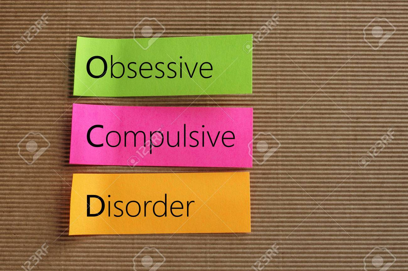 Obsessive Compulsive Disorder (OCD) text on colorful sticky notes - 53327525
