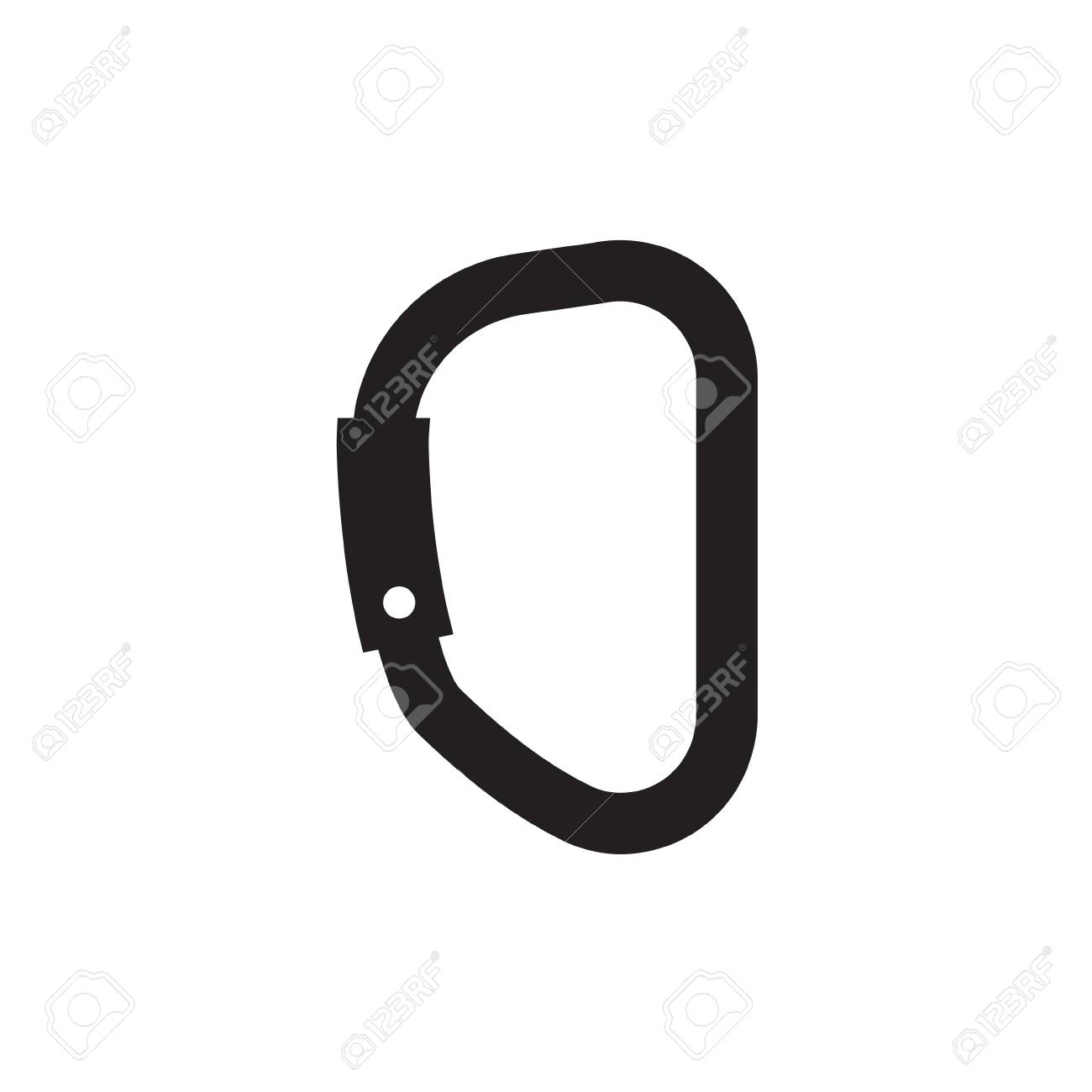 Climbing Carabiner Icon Vector Illustration Royalty Free Cliparts Vectors And Stock Illustration Image 94796603