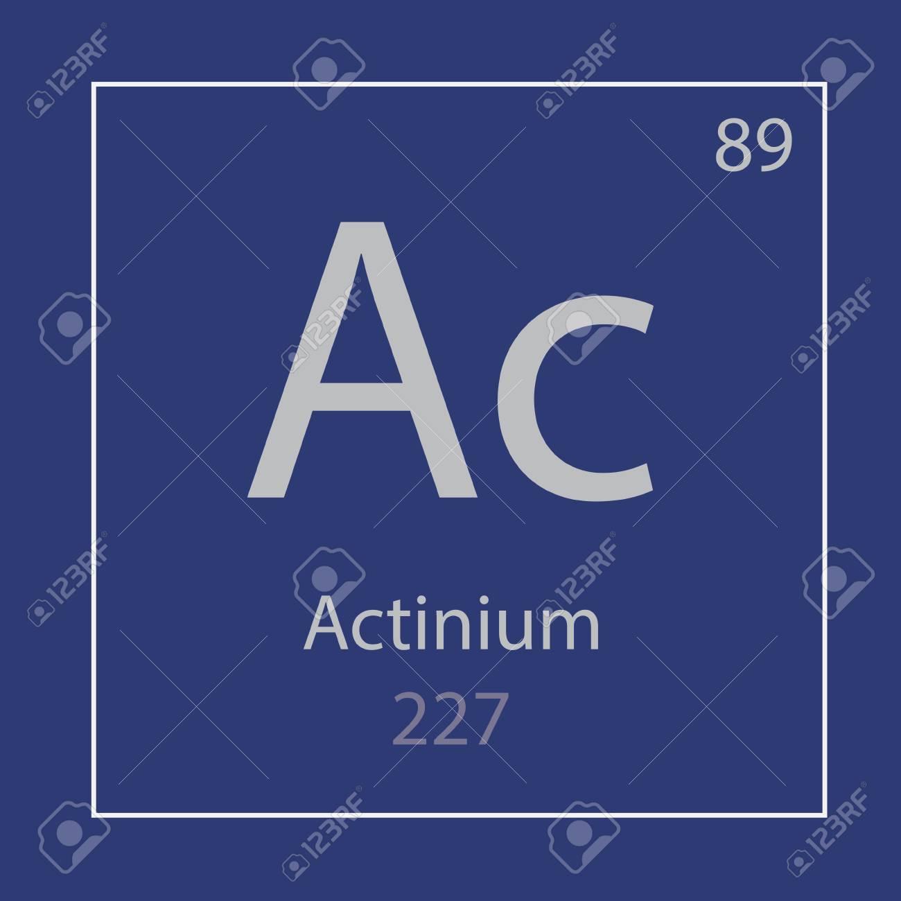 Actinium Ac chemical element icon- vector illustration