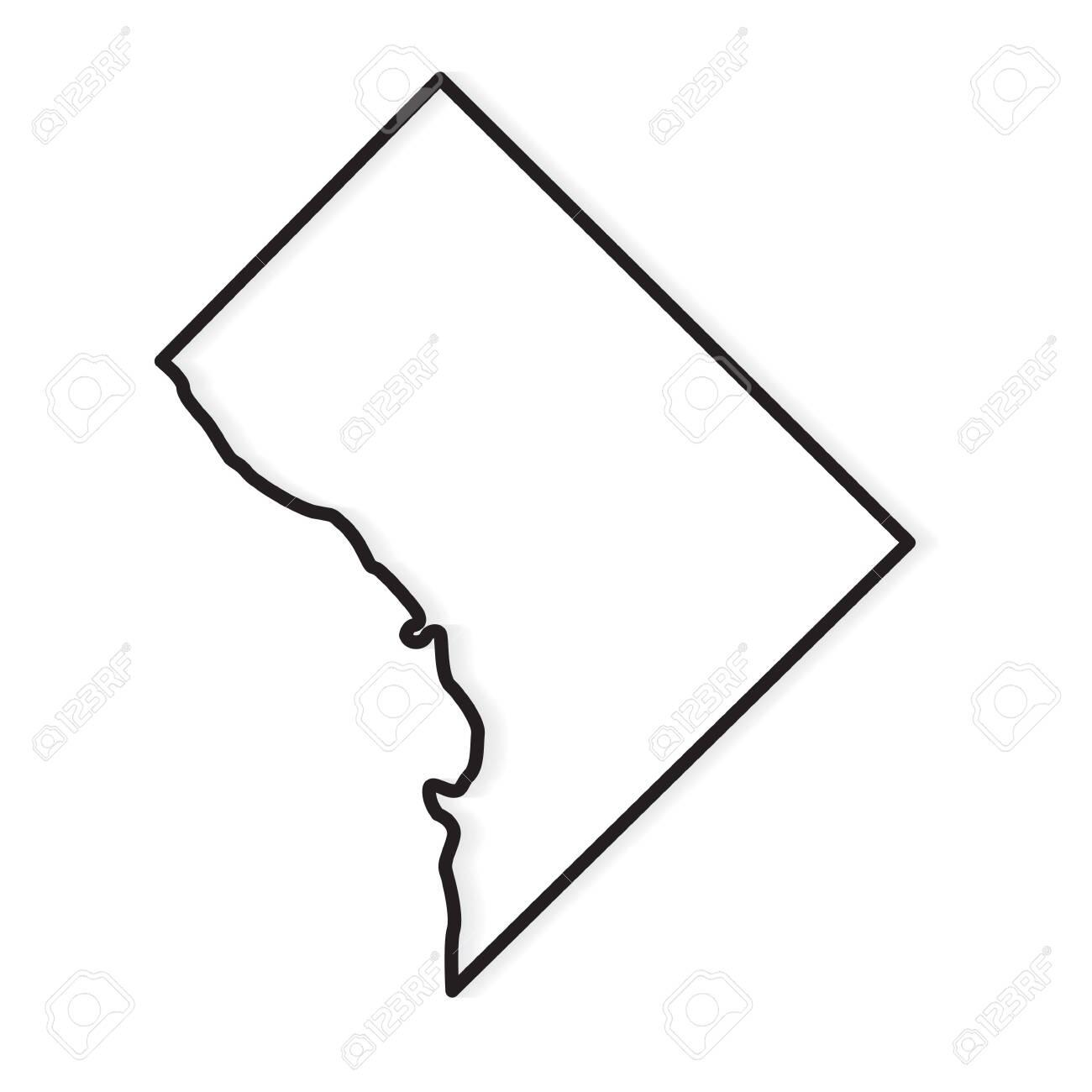 Washington DC Map Shape Money Clip