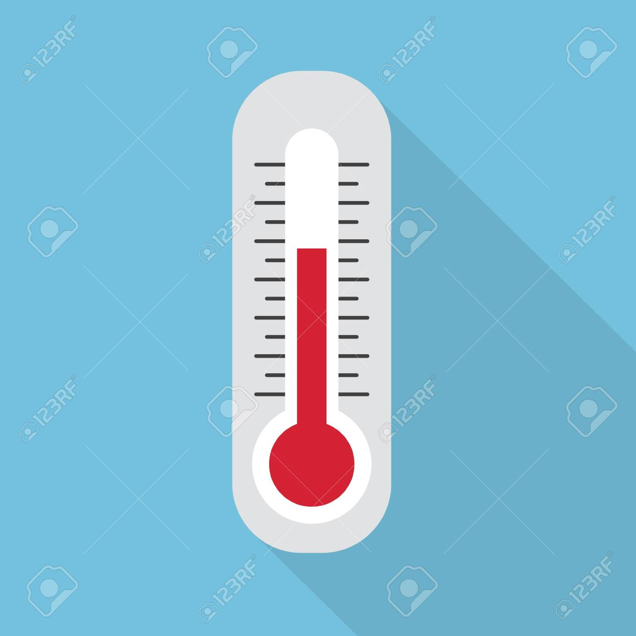 white thermometer icon- vector illustration - 142883160