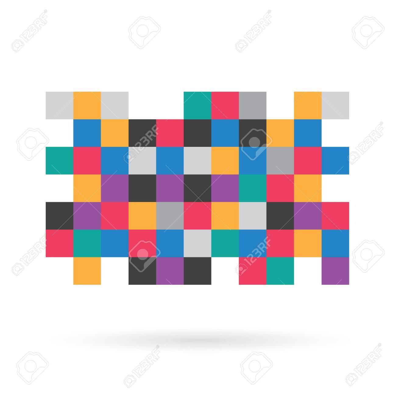 colorful pixel censorship pattern - vector illustration - 143580410