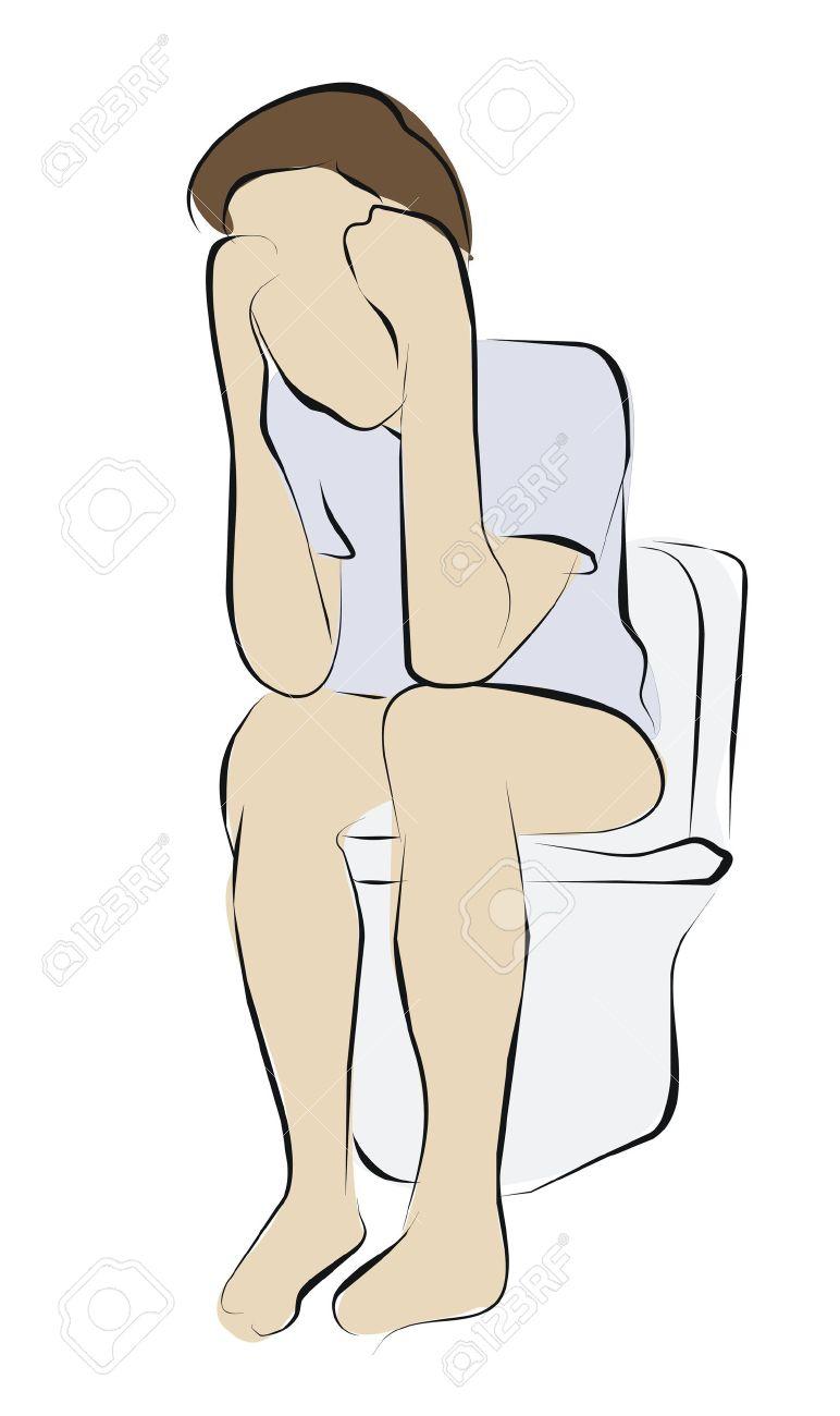 constipation or diarrhea on toilet Stock Photo - 11242568