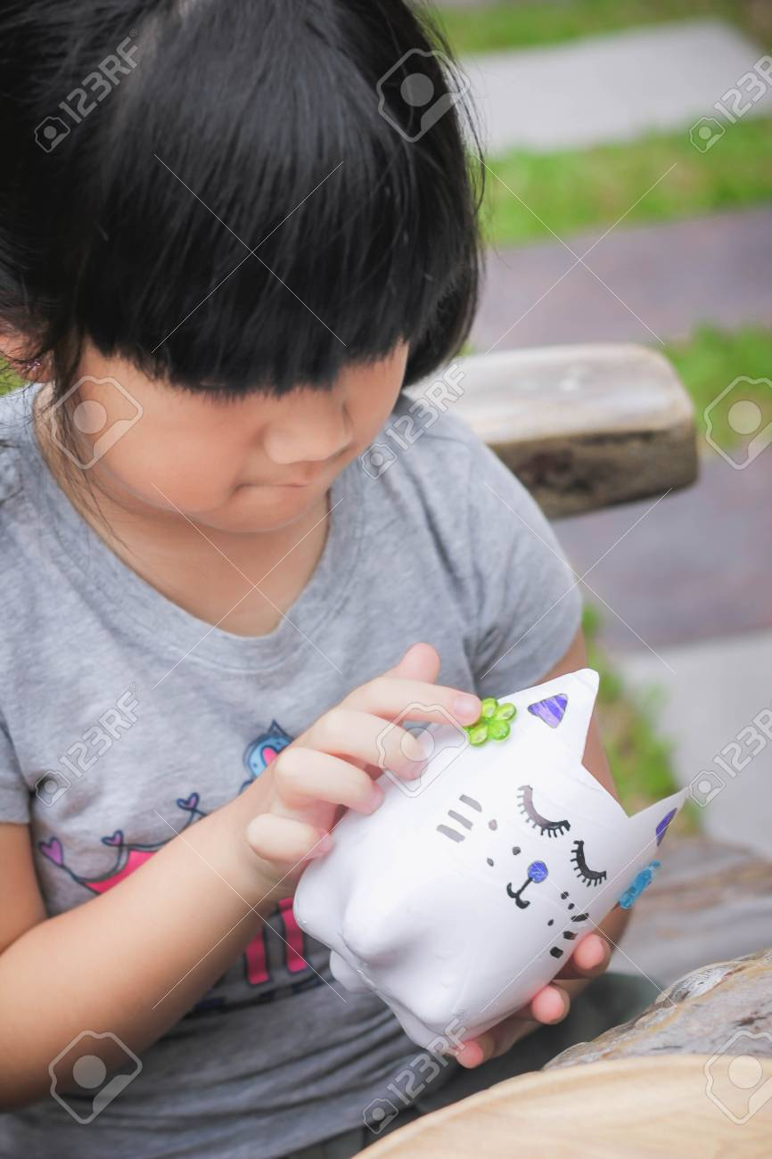 Cute Little Girl With D I Y Water Bottles D I Y Plastic Bottle