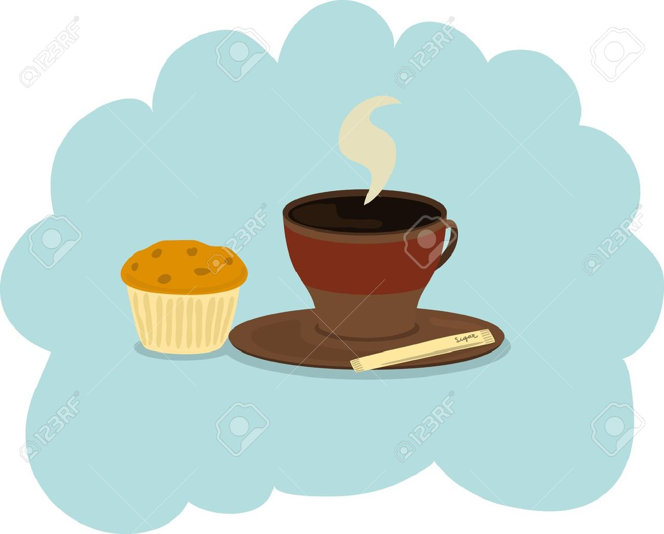 Cup of coffee and muffin Stock Vector - 12669841