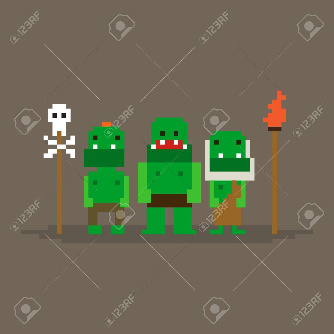 pixel art orque
