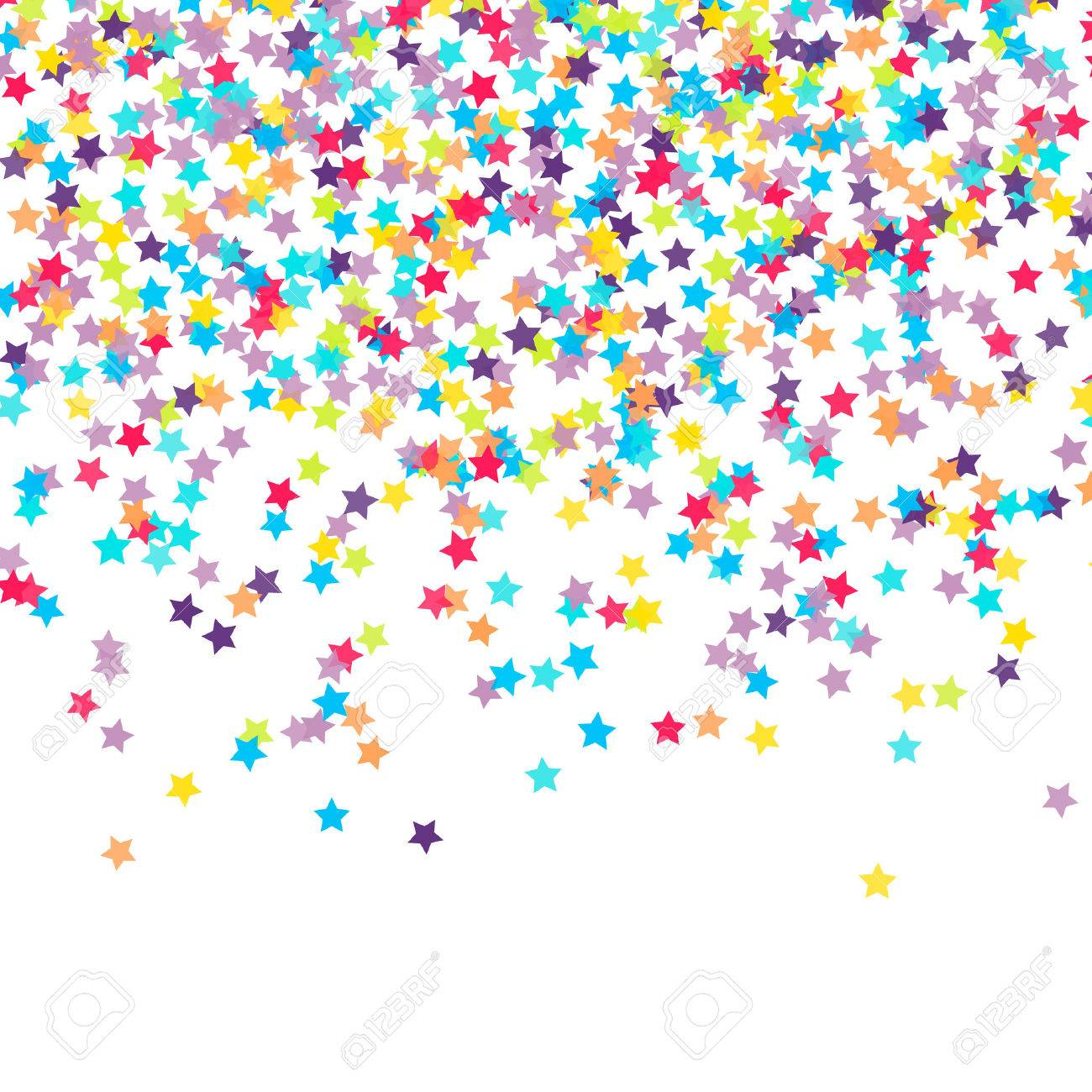 Abstract background with falling star-shaped confetti Stock Vector - 44544010