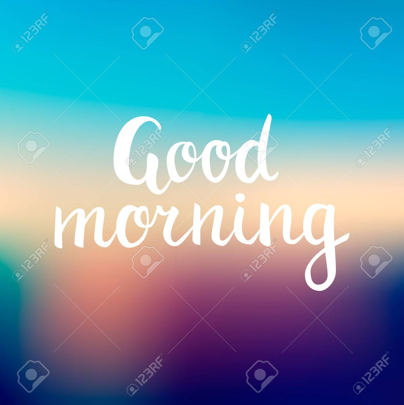 Good Morning Lettering Beautiful Good Morning Text On Mesh Gradient