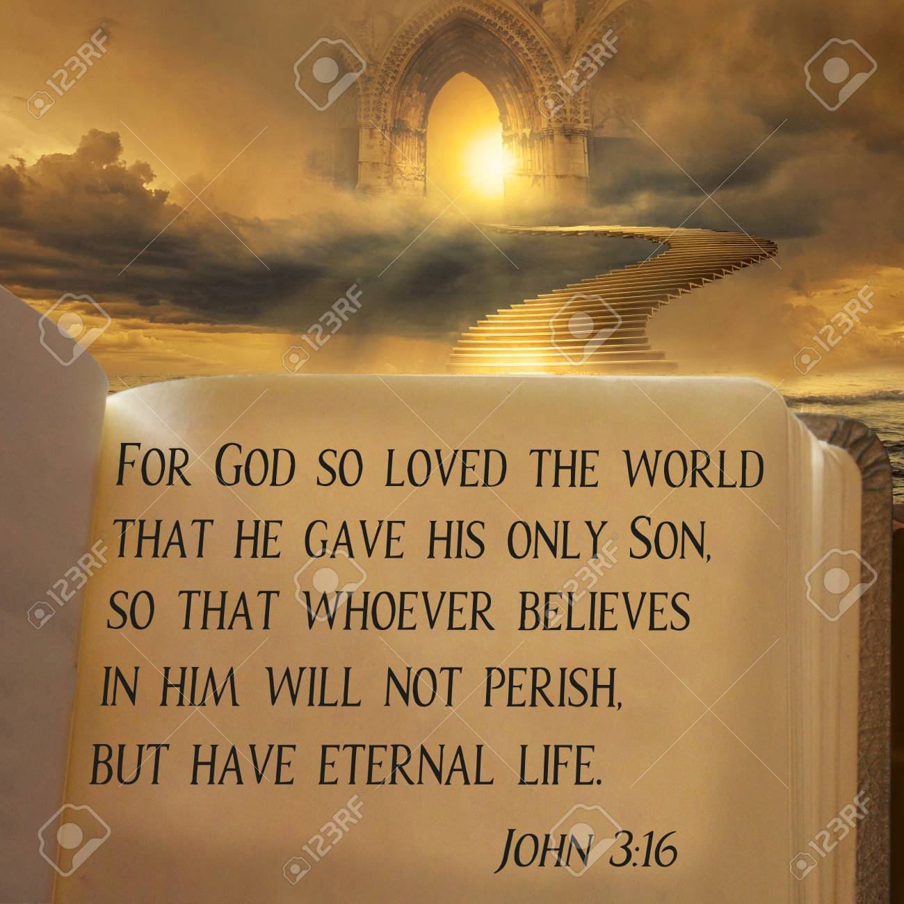 For God So Loved The World That He Gave His Only Son So That