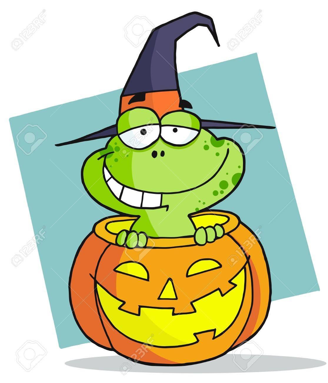 Cartoon character halloween frog - 6906006
